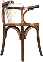 Navy Solid Timber Dining Chair Honey Ivory