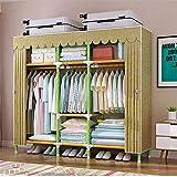 Closet Storage Closet Clothes Portable Rápido y fácil de montar el armario de almacenamiento de armario de armario y cubierta de almacenamiento portátil organizador de almacenamiento Wardrobe Closet O
