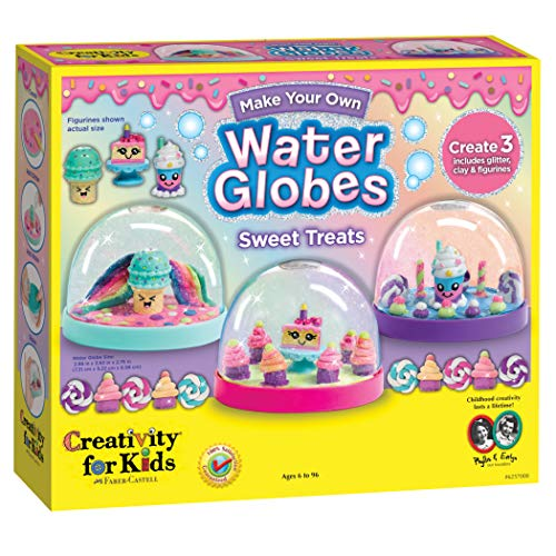 Creativity for Kids Make Your Own Water Globes Sweet Treats - Create 3 DIY Dessert Themed Snow Globes