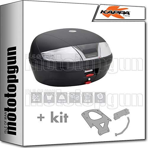 kappa maleta k46nt 46 lt + portaequipaje monolock compatible con benelli trk 502 x 2020 20