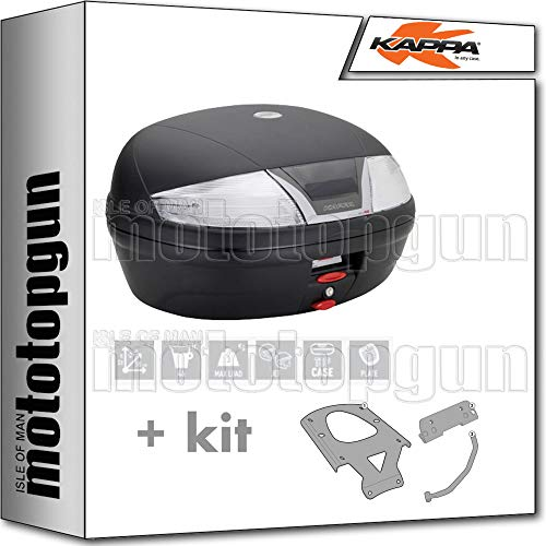 kappa maleta k46nt 46 lt + portaequipaje monolock compatible con yamaha xenter 125 150 2020 20