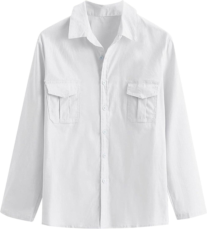 Wohelen Men's Casual Button Down Shirts Regular Fit Trendy Long Sleeve Shirts Big and Tall Button Up Shirts