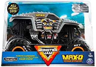 MJ New 2019 Monster JAM 1:24 Scale, Silver Maximum Destruction MAX-D