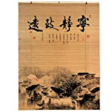 Lqdp Estores Enrollables Persianas enrollables para Ventanas con Filtro de luz, Cortina de bambú de Estilo Tradicional para galería/Dormitorio/Sala de Estar (Size : 60cmX235cm/24inX93in)