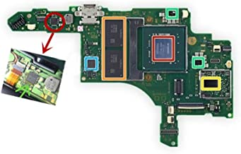 Cailiaoxindong Console Motherboard for Nintendo Switch NS Switch Charging IC Chip Original Replacement Repair Parts