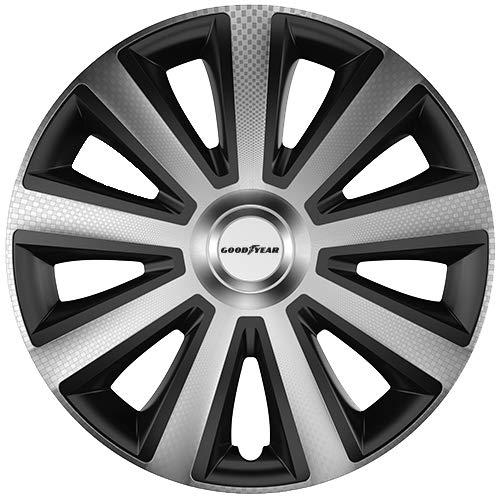 """Goodyear 10623 Auto Radzierblenden Radkappen Radblenden """"Memphis Carbon"""", 4er Set, 40,64 cm (16 Zoll), Schwarz/Silber"""