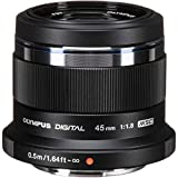 Olympus M.Zuiko Digital 45mm F1.8 Lens, for Micro Four Thirds Cameras (Black)...