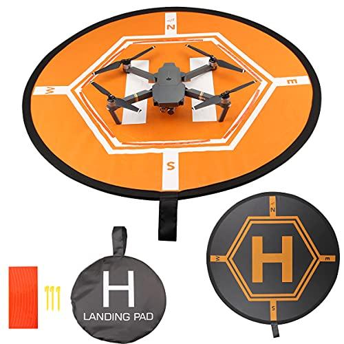 TMOM 80CM Tappetino di atterraggio pieghevole per DJI FPV/DJI Air 2S /Mavic Air 2/ Mavic Mini/Mavic Mini 2/Mavic 2/Mini Se Universali Impermeabile Drone Landing Pad