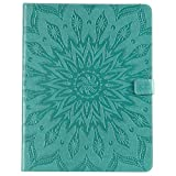 Yhuisen Sunflower Printing Design PU Leather Flip Wallet Tablet Case Cover for iPad Pro 12.9 inch (2018 Release, 3rd Generation) (Color : Green)