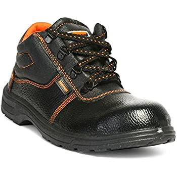 Hillson - Beston-8-BLK Beston Safety Shoe (Size-8 UK, Black)