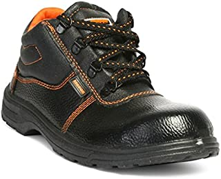 Hillson Beston Safety Shoe (Size-8 UK, Black)