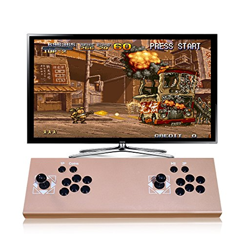 ElementDigital Arcade Games Console Home Arcade Game Machine Pandora's Box 4S Plus Double Players Arcade Joystick HDMI VGA with 815 Classics TV Monitor Projector PC Laptop PS3