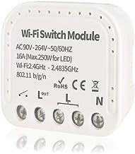 WiFi Relay Switch Self-Locking Switch Module, AC 90-264V WiFi Relay Switch Module Smart Life/Tuya APP Remote Control Switc...