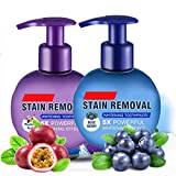 Baking Soda Whitening Toothpaste,2pcs Stain Removal Whitening Toothpaste Strong Cleaning Power Natural Stain Remover Fluoride-Free Toothpaste(Blueberry+Passion Fruit)