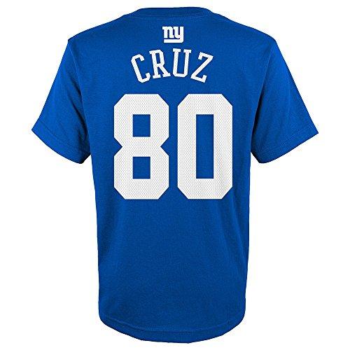 Outerstuff Victor Cruz NFL New York Giants Mainliner Jersey Blue T-Shirt Youth (S-XL)