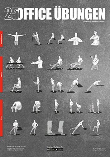 Windhund Übungsposter Office - DIN A1 Poster mit 25 Übungen für das Büro