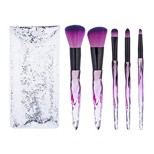 Pinceaux de Maquillage, 7pcs Pinceaux de Maquillage Cosmétique En Cristal Et Diamant Professionnel de Maquillage Maquillage En Poils de Artificielle Fibre Pinceaux Kits