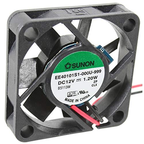 kessler-electronic EE40101S1-1000U-999 SUNON-Lüfter 40x40x10mm 12V= 13,92m³/h 28,2dBA 7300U/min +DATENBLATT als QR-Code