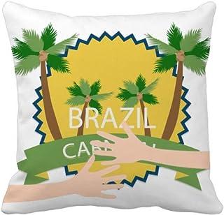 Celebrate Brazil Carnival Hug - Funda cuadrada para almohada