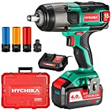 Cordless Impact Wrench, HYCHIKA 18/20V Impact Gun, 350Nm Electric...