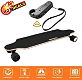 Aceshin 35.4' Electric Skateboard with Remote Control for Adults Teens Youths 250W Dual Motor 20KM/H Top Speed 10 KM Range Longboard 7 Layers Maple Waterproof IP54 E-Skateboard