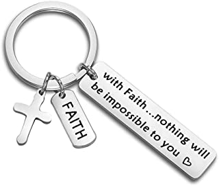 Matthew 17:20 Nothing is Impossible Mustard Seed Faith Keychain Christian Gift