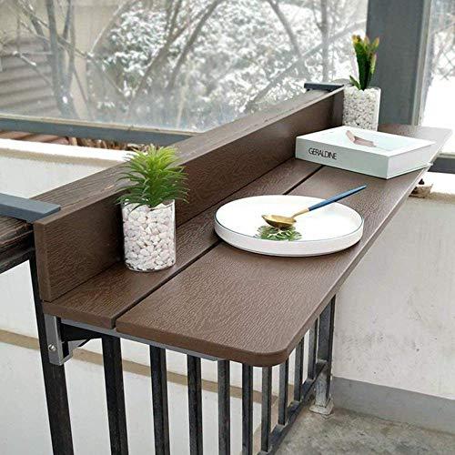 YJTGZ Mesa Plegable Colgante 120 27cm balcón Mesa de Ordenador portátil Ajustable Mesa de Comedor elevadora Mesa de Muebles de terraza de jardín