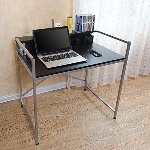 Klapptisch ZZHF Laptop Tisch Klapp Schreibtisch Schreibtisch Schreibtisch Esstisch Ahorn Farbe 2 Farbe Optional Größe Optional Schreibtische (Farbe : SCHWARZ, größe : 92 * 60cm)