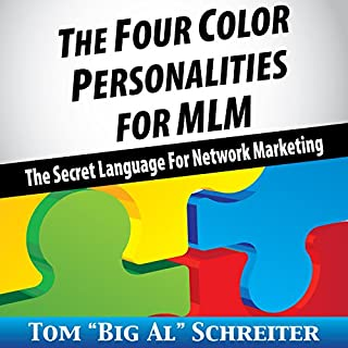 The Four Color Personalities for MLM audiobook cover art