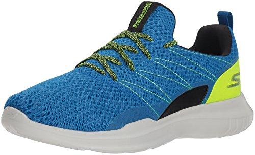 Skechers Men's GO Run MOJO 54845 Sneaker, Blue/Lime, 9 M US