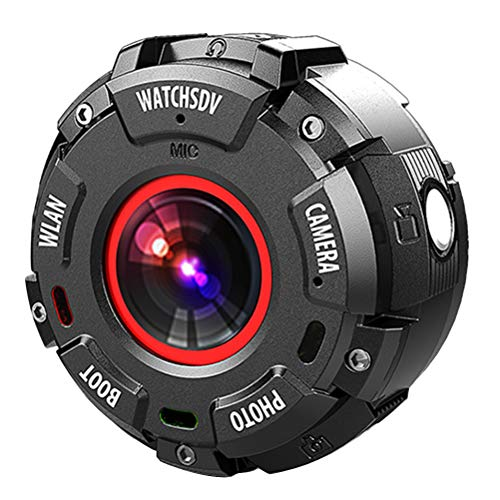 ABOOFAN Mini 1080P impermeable Deportes DV Cámara Cam Reloj Grabador de vídeo WIFI APP Visión nocturna DVR Videocámara Cámara de vigilancia de seguridad (negro)