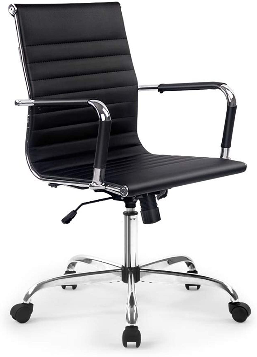 Eames Replica Office Chair with Premium PU Leather Executive Computer Adjustable Armchair Black