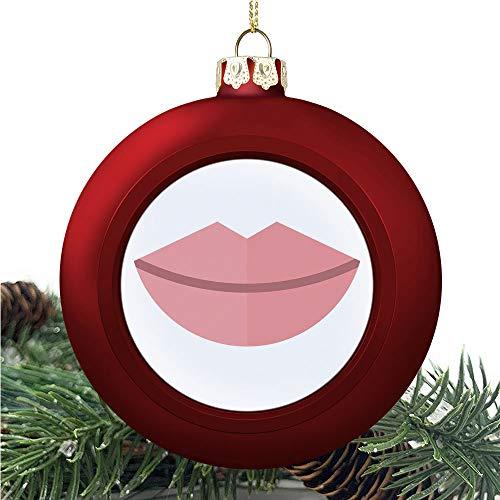 SUPNON Kissprint of Red | Christmas Ball Ornaments 2020 Christmas Pendant Personalized Creative Christmas Decorative Hanging Ornaments Christmas Tree Ornament №YF0585
