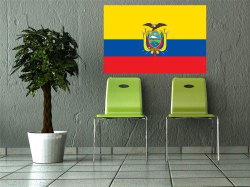 Kiwistar Wandtattoo Sticker Fahne Flagge Aufkleber Ecuador 80 x 53cm