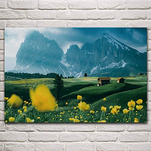 Landschap van de de bloemaard van het berg het brede gebied 1000pcs_Childrens houten puzzel Puzzelspel voor kinderen en volwassenen 50x75cm