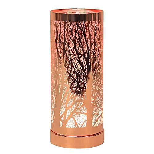 Lámpara LED de aroma que cambia de color oro rosa.