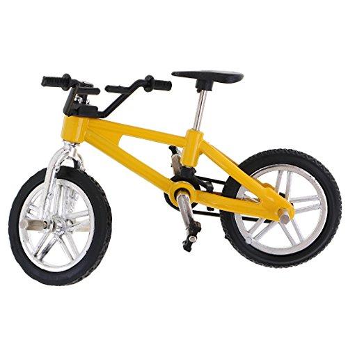 FLAMEER Aleación Bicicleta De Montaña Modelo Mini Dedo Bicicleta Bicicleta Fresco Niño Juguete Regalo - Amarillo