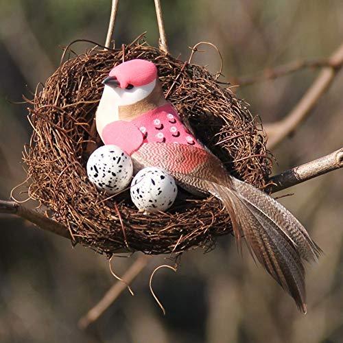 闪电 Partido Decoración del Vector de la Vendimia Materiales for Jardines Puntales Ventana de visualización Hecho a Mano Big Bird Nest Ronda Set Rattan Craft Simulación Pascua