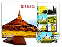 "DA CHOCOLATE キャンディ スーベニア ""ネブラスカ"" NEBRASKA チョコレートセット 5×5一箱 (Mountain)"