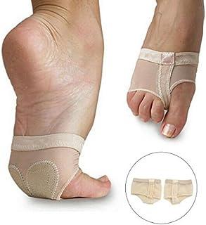 eDealMax 1 Par Mujeres Color de la piel Tamaño elástico dedo pulgar separado la Media planta