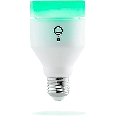 LIFX + E27 Lampadina a LED Wi-Fi Smart con Infrarossi per la Visione Notturna, Regolabile, Multicolor, Dimmerabile, non Richiede un Hub, Funziona con Alexa, Apple HomeKit e Google Assistant, Bianco