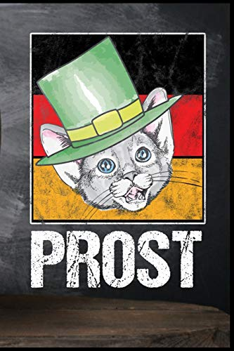 Prost: Oktoberfest Katze Deutsche Flagge Dirndl Lederhose Bier Bierkrug Fassbier Brezel Bierflasche Geschenk (6