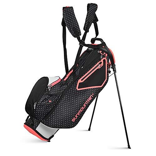 Sun Mountain 2021 Women's 3.5LS Golf Stand Bag (White-Black-DOT-Dawn)