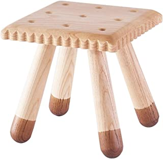 HQCC Creative Square Step Stool,Mini Stool for Biscuit Shape of Solid Wood, Mini