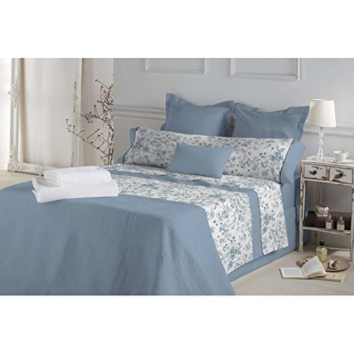 DON ALGODÓN.- Juego de sábanas Monique Color Azul para Cama de 135: Amazon.es: Hogar