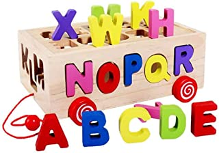 Alphabet/Letters Shape Sorter Box with Pully Toy Car, Children Educational Toy for Babies Early Educational, Best Birthday...