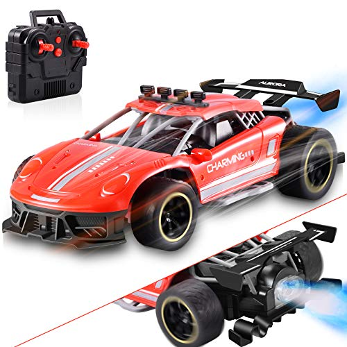 Remote Control Car for Boys 4-7 8-12, ZAYOR High Speed Race Drift RC Cars Toy with Cool LED Spray Light, Kids Outdoor Toys for 4 5 6 7 8 9 10 11 12 Year Old Boys Girls Birthday Gifts