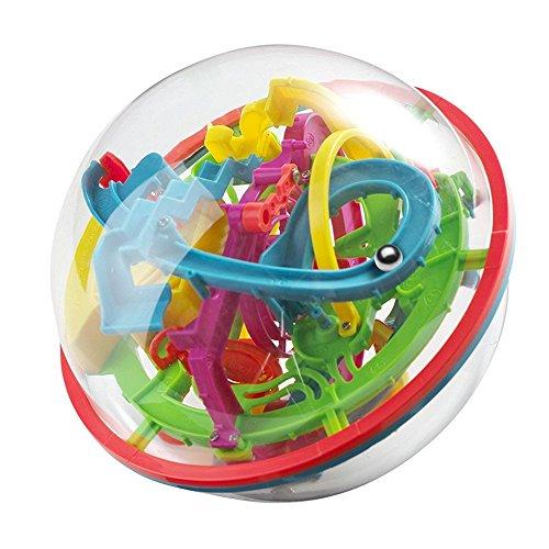 OFKPO 3D-labybal, voor kinderen, bont evenwicht puzzel, speelgoed voor kinderen