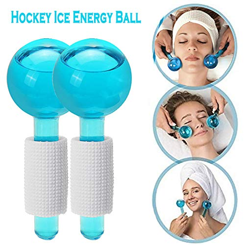 QIYE Gesichtskühlung Ice Globe Ball Gesichtsmassagegerät Magic Massager Roller Tool, für Gesichts-Augen-Hals-Haut-Kopfschmerz-Massage