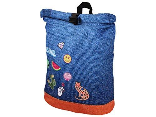 Alsino Rucksack Tasche Umhängetasche mit Griff Rucksacktasche Rücktasche Retro Vintage, Variante wählen:Ruck-c011 Motive
